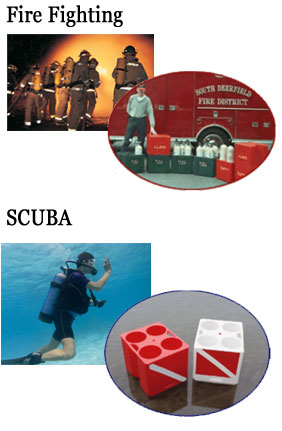 SCUBA and Fire & Rescue SCBA tanks